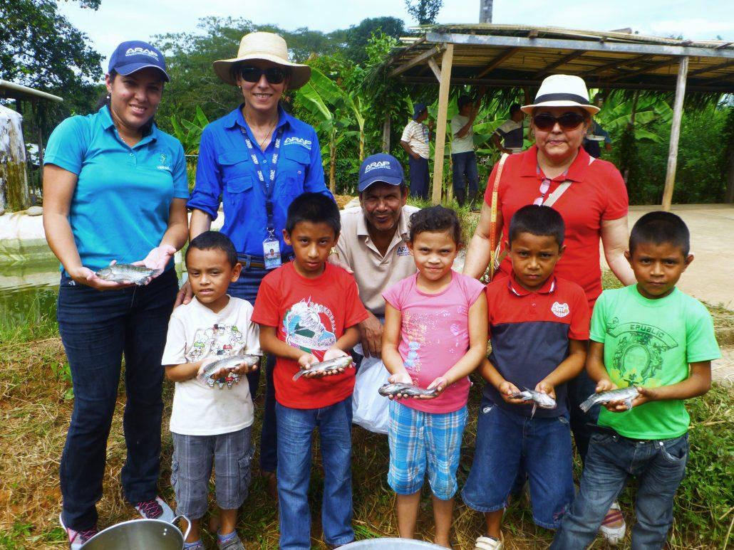 Autoridad de los recursos acu ticos de panam escuela el for Proyecto de tilapia en estanques